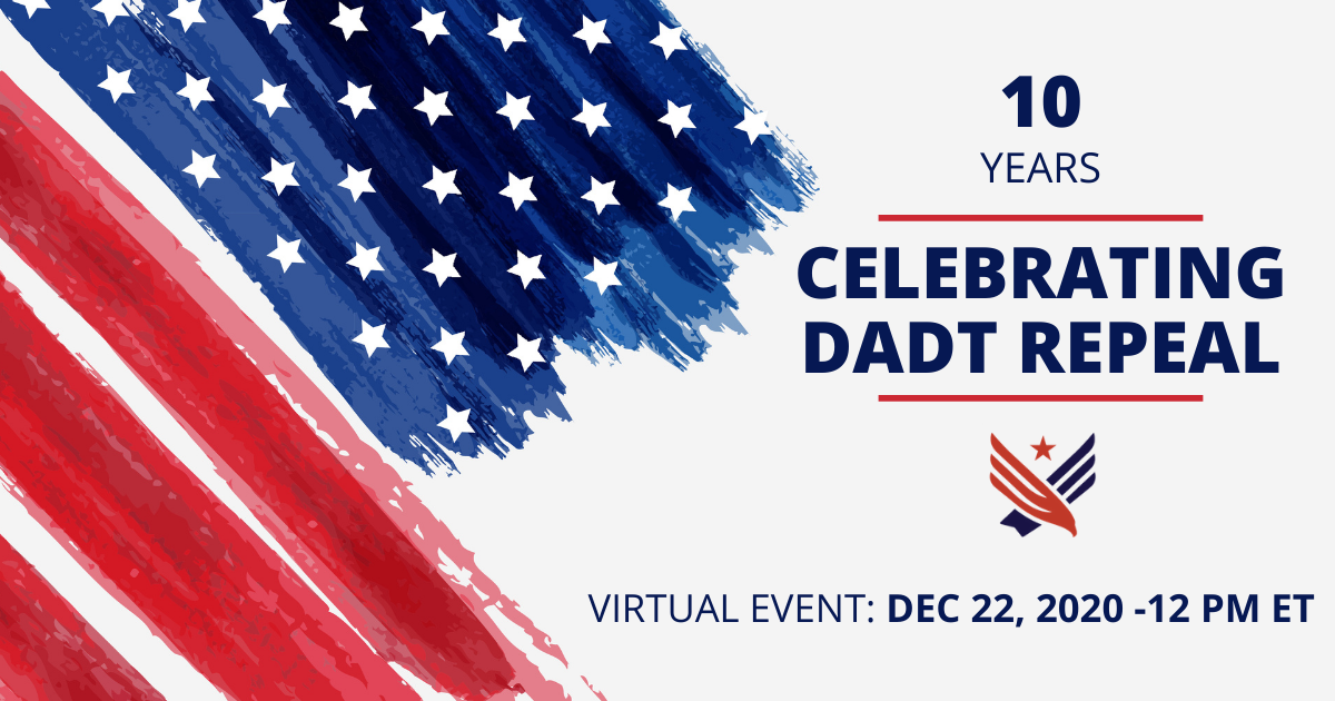 LGBTQ+ Modern Military Association DADT event: You're invited