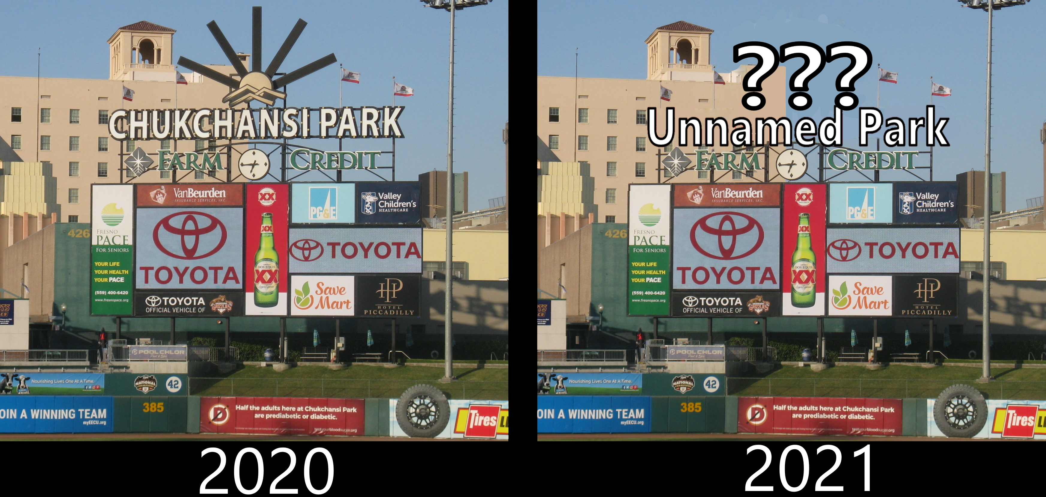 Chukchansi Park in downtown Fresno won't renew naming rights