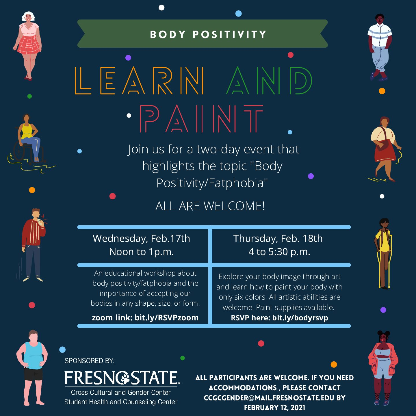 Body positivity: Learn and paint (free event @ Fresno State)