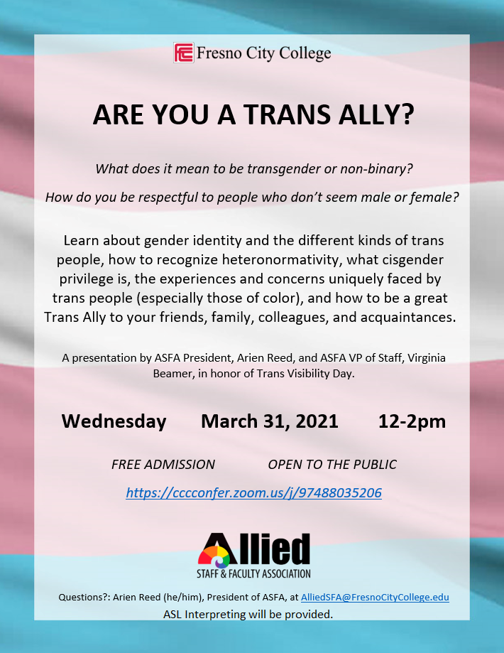 Transgender day of visibility event