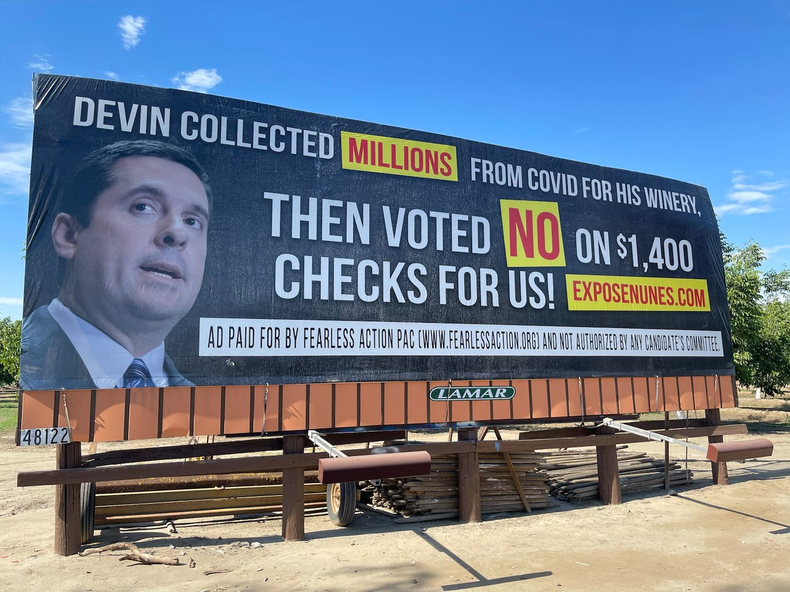 Another dishonest Devin billboard goes up thanks to Fearless Action